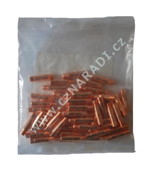 Průvlak M6x6x25x0,8mm krátký závit, CuCrZr, 50 kusů