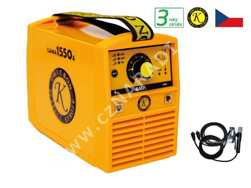 GAMA 1550A + kabely, svařovací Invertor Omicron