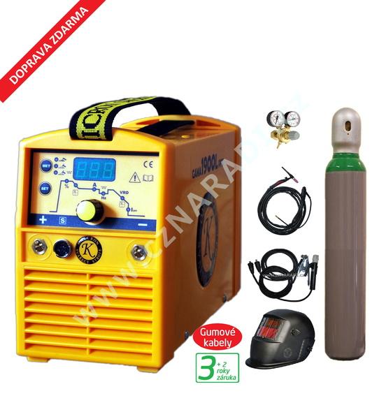 GAMA 1900L PFC + kabely 4m + kukla + TIG hořák + ventil + lahev