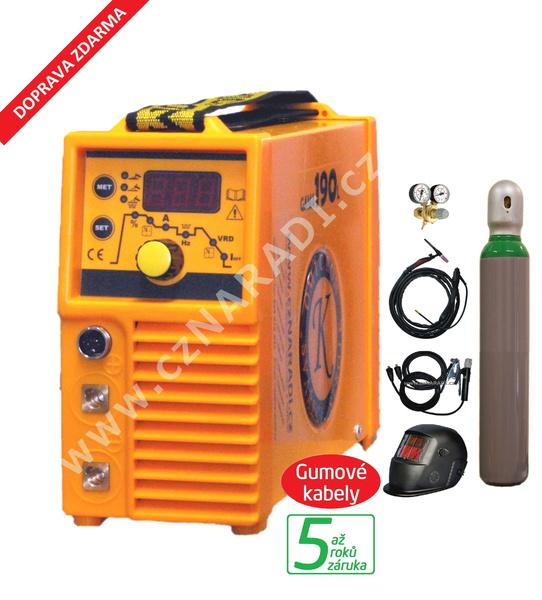 GAMA 190L + kabely + kukla + TIG hořák + ventil - lahev