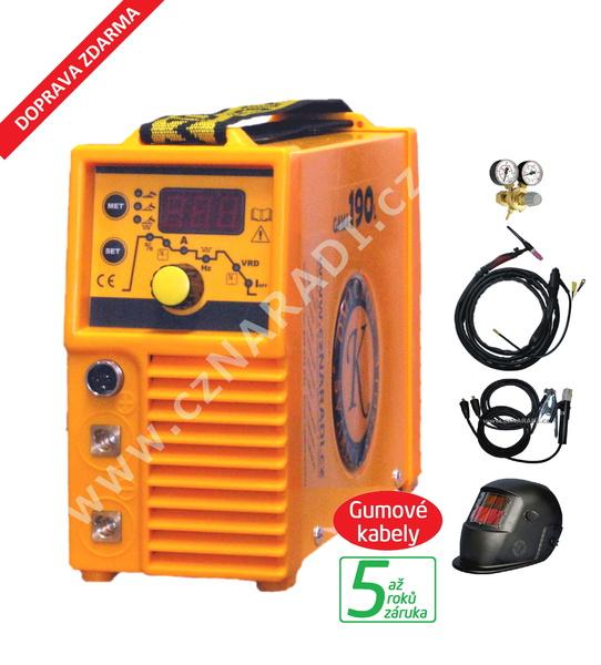 GAMA 190L + kabely + kukla + TIG hořák + ventil