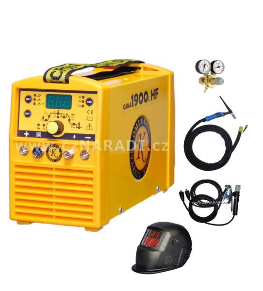 GAMA 1900L HF + kabely + kukla + TIG hořák + ventil, záruka až 5 roků