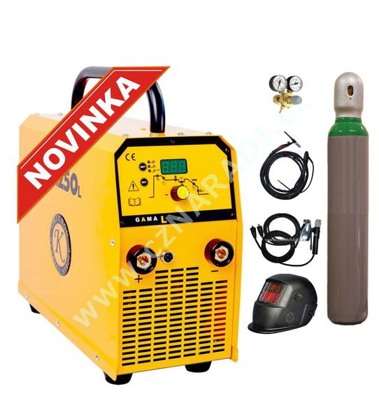 GAMA 250L - třífázová svářečka + kabely 5m + kukla + TIG hořák + ventil + lahev