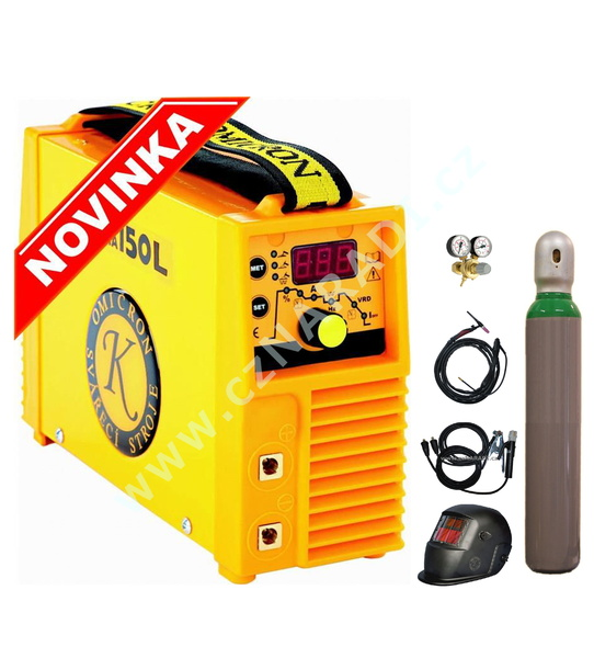 GAMA 150L + kabely + kukla + TIG hořák + ventil - lahev