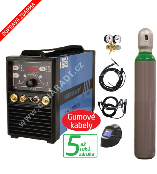 KITin 1700 HF + kabely + kukla + TIG hořák + ventil + lahev