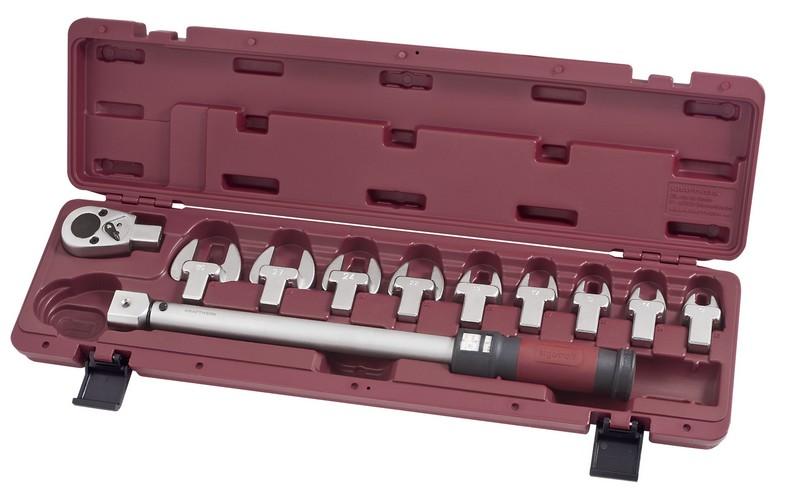 """Momentový klíč 1/2"""" 40-200Nm / 24 zubů s vidlicovými nástavci ergokraft 11ks"""