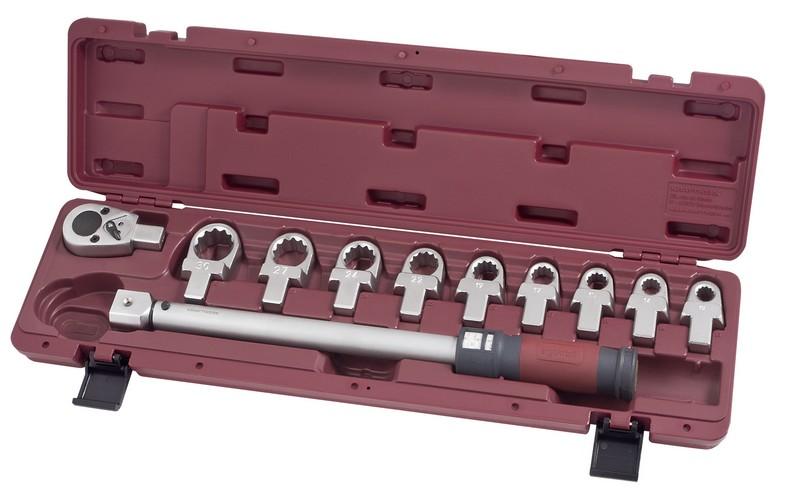 Momentový klíč 1/2 40-200Nm / 24 zubů s očkovými nástavci ergokraft 11ks
