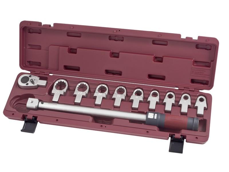 """Momentový klíč 1/2"""" 65-335Nm / 24 zubů s očkovými nástavci ergokraft 11ks"""