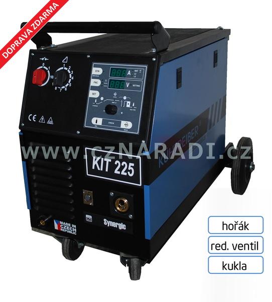 KIT 225 4-kladka Synergic + hořák + red. ventil + kukla