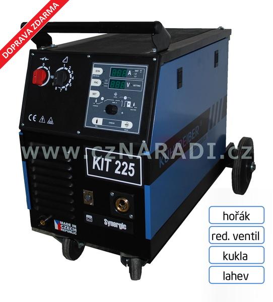 KIT 225 4-kladka Synergic + hořák + red. ventil + kukla - lahev
