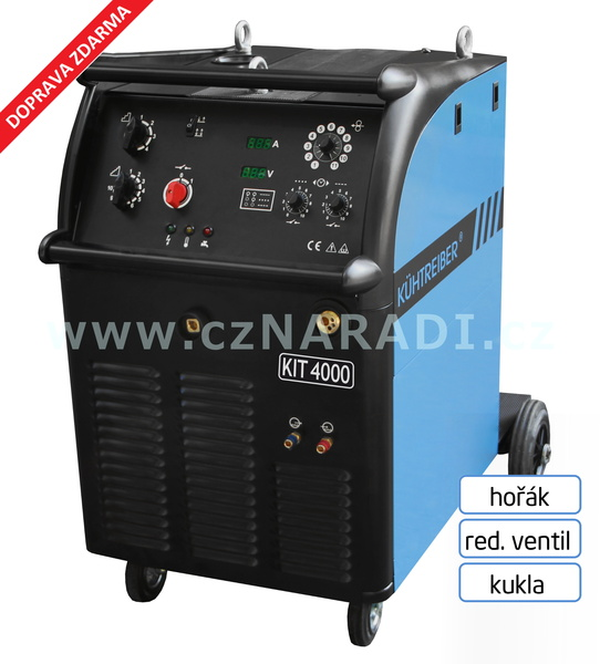 KIT 4000 W Standart 4-kladka + hořák Binzel + red. ventil + kukla