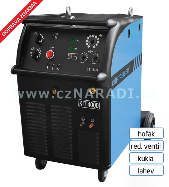KIT 4000 W Standart 4-kladka + hořák Binzel + red. ventil + kukla + lahev