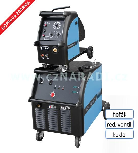 KIT 4000 WS Standart 4-k + podavač + propoj + hořák + red. ventil + kukla