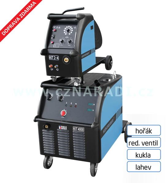 KIT 4000 WS Standart 4-kl + hořák + podavač + propoj + red. ventil + kukla + lahev