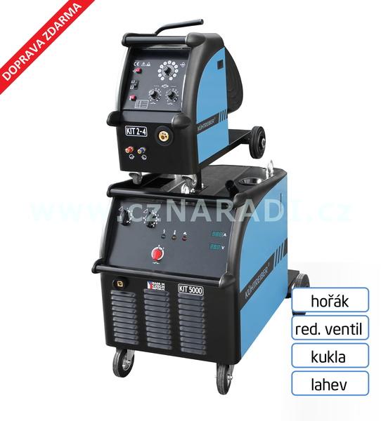 KIT 5000 WS Standart 4-kl + podavač + propoj + hořák + red. ventil + kukla + lahev