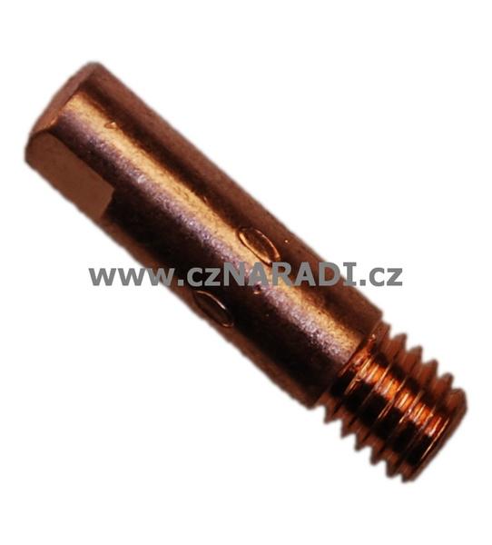 Průvlak M6x6x25x1,0mm krátký závit, ALU